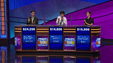[Jeopardy! 2019 Teen Tournament - Image of the day one final results]